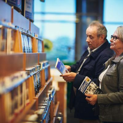 Guests shopping for books