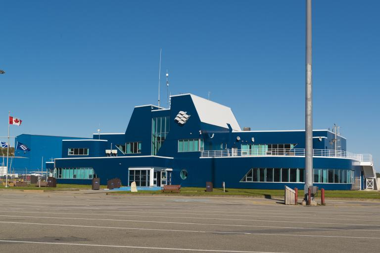 view of port aux basques newfoundland ferry terminal