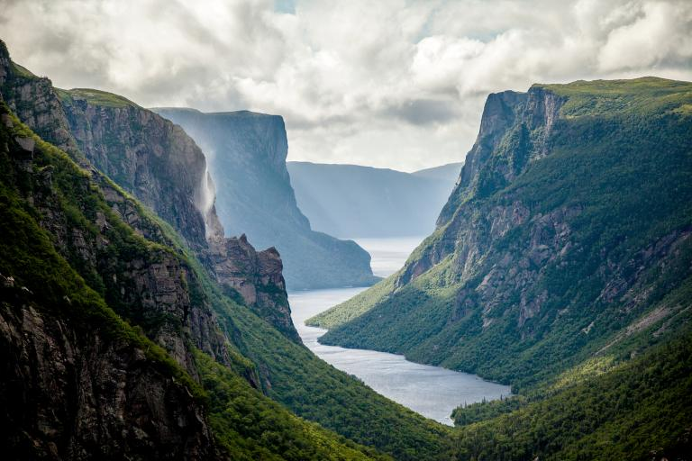 Western Brook Pond Fjord Gros Morne National Park Newfoundland